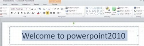 select-text-in-placeholder-in-powerpoint2010.jpg