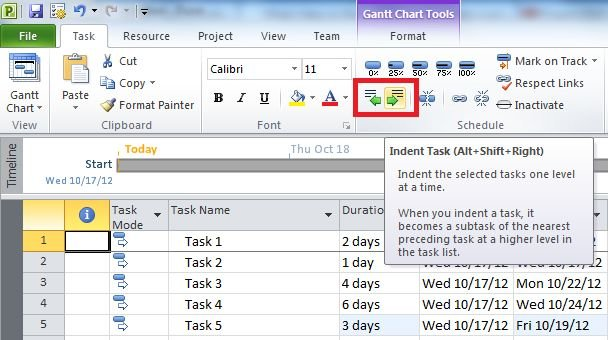 how to create a project plan in microsoft project 2010