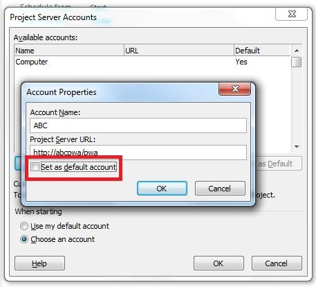 clear-default-account-checkbox-in-project 2010.jpg