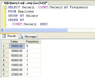 Compute Frequency Of Each Element In Column using SQL 2008