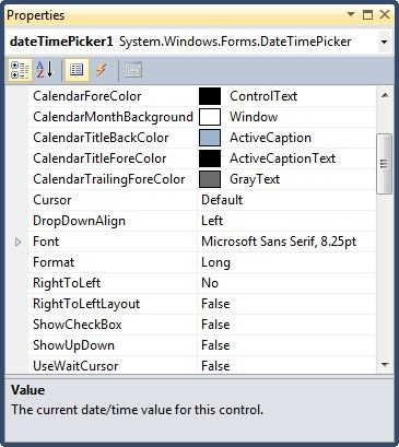 DateTimePicker control in VB NET