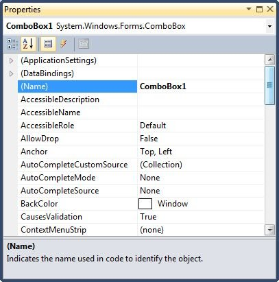 ComboBox Control in VB NET