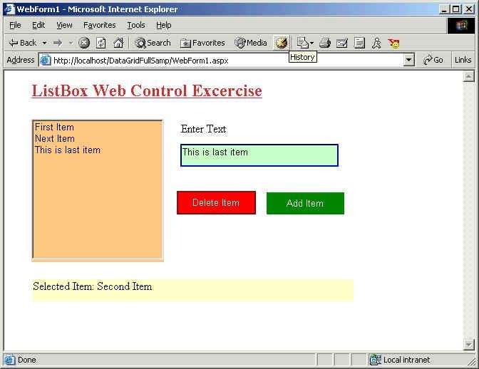 Using ListBox Web Control ASP NET using VB NET