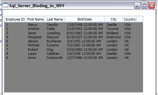 Data Binding in WPF ListView
