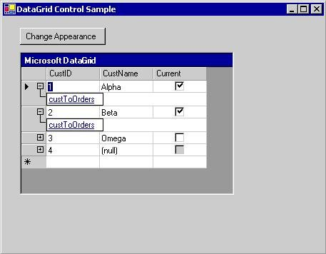 Windows Forms DataGrid Control in VB NET