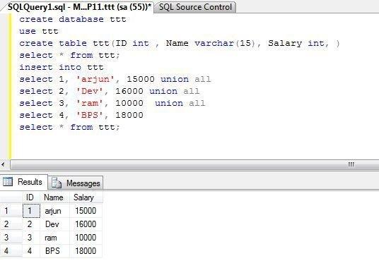 Insert Multiple Values in Table SQL Server 2008