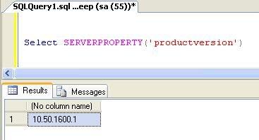 sql server how to get sde version