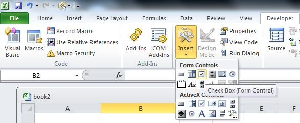 how to create a checklist in excel